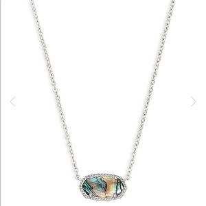 Kendra Scott Elisa Silver Necklace - Abalone Shell
